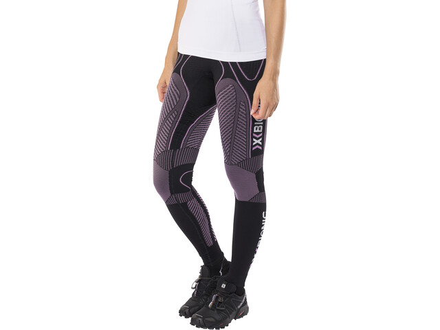 X-Bionic The Trick Pantalones largos running Mujer, black/pink